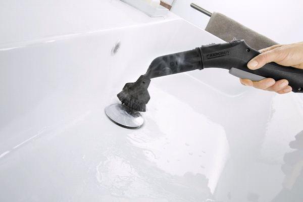 большая круглая щетка karcher для пароочистителей karcher аксессуары для паропылесосов, пароочистителей, полотера и стеклоочистителей karcher