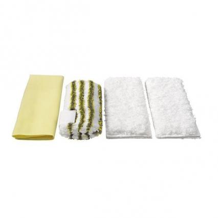 комплект микроволоконных салфеток для ванной парочистителей karcher аксессуары для паропылесосов, пароочистителей, полотера и стеклоочистителей karcher Karcher